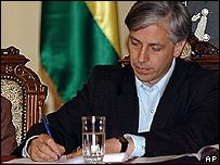 Vice presidente de Bolivia, Álvaro García Linera.