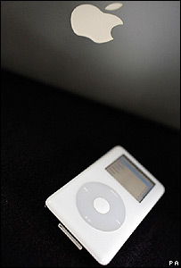 <i>iPod</i>de Apple.