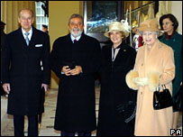 The Queen and Duke of Edinburgh with Brazilian President Luiz Inacio Lula da Silva and his wife Marisa Leticia