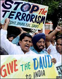 Protests against Dawood Ibrahim in India