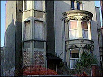 A semi derelict house