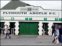 Plymouth's Home Park ground