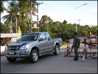 Checkpoint in southern Thailand