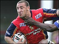 Paul Sykes in action for Harlequins, then London Broncos, last season