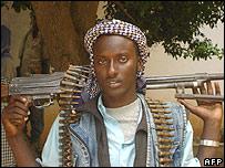 Islamist militia member in Mogadishu