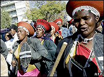 Women demonstrating in Pretoria