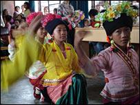 Girls dancing in Yunnan province
