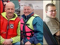 Climbers Colin Riddiough, Paul Dick and John Plews who died