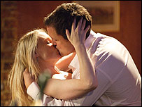 Carly Wicks and Jake Moon in Eastenders