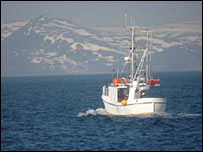 Fishing boat in the Barents Sea