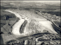 Homes were built on this former ironstone quarry in Corby