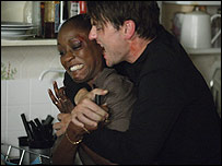 Denise Fox and Owen Turner in Eastenders