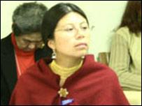 Mirian Masaquiza, representante de la Secretaría del Foro Permanente sobre Cuestiones Indígenas de la ONU (Foto cortesía de la ONU)