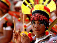 Indígena kadiweu de Brasil