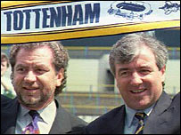 Former Tottenham chairman Sir Alan Sugar (left) and Terry Venables