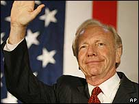 Joe Lieberman, defeated candidate for the Democratic senatorial nomination in Connecticut