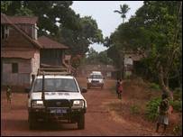 UN truck in Sierra Leone