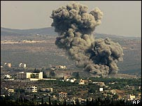 Israeli air strike in southern Lebanon