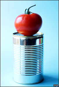 Tomato on tin (Science Photo Library/Cristina Pedrazzini)