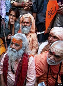 Bajrang Dal supporters, Delhi, 8 March 2006