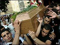 Arab-Israeli Christian funeral in Haifa, 7 August 2006