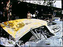 Scene of Mumbai blasts 1993