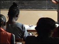 Black girls in classroom