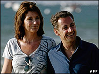 Nicolas Sarkozy and wife Cecilia