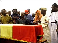 Coffin in Bamako