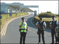 Officers at Stansted Airport