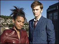 Freema Agyeman and David Tennant