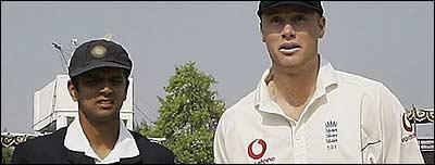Rahul Dravid and Andrew Flintoff
