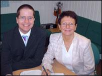 Matthew Savage and Helen Jeffery