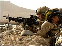 British soldiers in Helmand Province in Afghanistan
