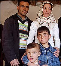 Ferhat (front) and his family