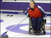 GB wheelchair curler Tom Killen. Pic: Bob Cowan (Scottish Curler)