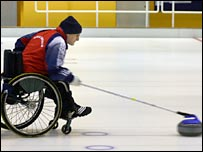 GB wheelchair curler Michael McCreadie. Pic: Bob Cowan (Scottish Curler)