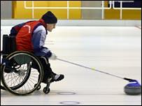 GB wheelchair curler Michael McCreadie. Pic: Bob Cowan (Scottish Curler)