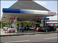 Tesco petrol forecourt