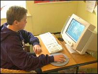 Teenager on internet