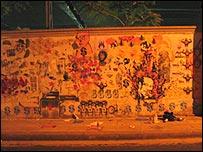 Muro pintado por miembros de Run Don't Walk