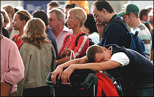 Long wait at Stansted Airport