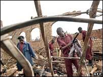 The remains of Kalerwe Church in Kampala, Uganda