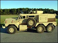 Cougar armoured vehicle  - Force Protection Inc. photo