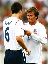 New captain John Terry and predecesor David Beckham