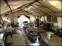 Kitchen tents of the 1st Battalion, Royal Highland Fusiliers, Basra - Army photo