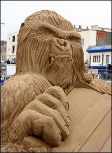 Close-up of King Kong sculpture (Graham Bloomfield )