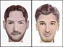 Identikit pictures of suspects