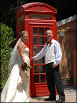 Tina & Chris Jones at their wedding in Gibraltar