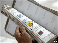 Recuento de votos en México